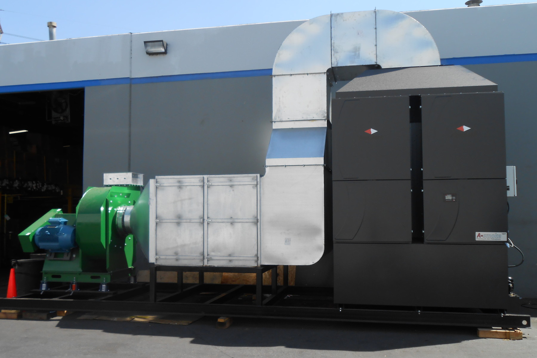 Air Pollution Control Unit designed, custom built by Air Cleaning Technology